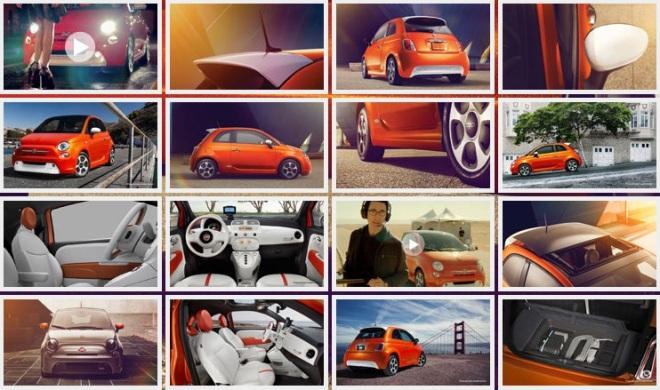 Fiat 500e clicks